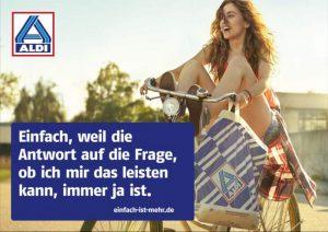 ALDI, ALDI Nord, Einfach ist mehr, Kampagne, Unternehmenskommunikation