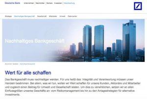 Unternehmenskommunikation, Deutsche Bank AG