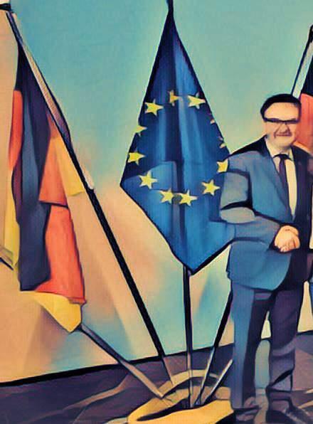 deutsche Flagge, europäische Flagge, Fahnen, EU DSGVO, deutsches BDSG, Vorbild für EU DSGVO, EU DSGVO Ausblick