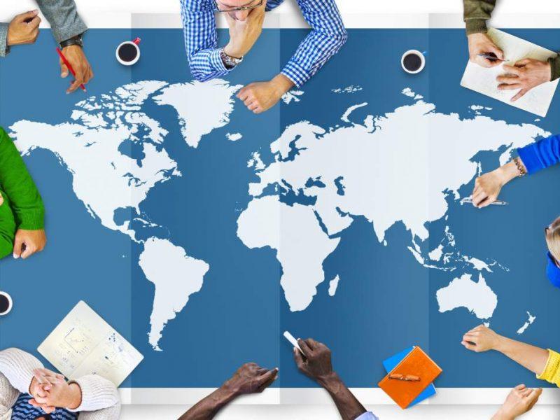 Weltkarte, Unternehmen, Brainstorming, Globalisierung, Internationalisierung, Expansion ins Ausland, Besprechung, Teammeeting, Business Meeting, Konzepterstellung, neue Märkte erschließen, Enterprise Transformation Cycle, ETC Buch, Interview zur Buchveröffentlichung, Aufbau eines Forschungsstandortes, Aufbau eines Entwicklungsstandortes, Standort in Indien aufbauen, TCI-Blog