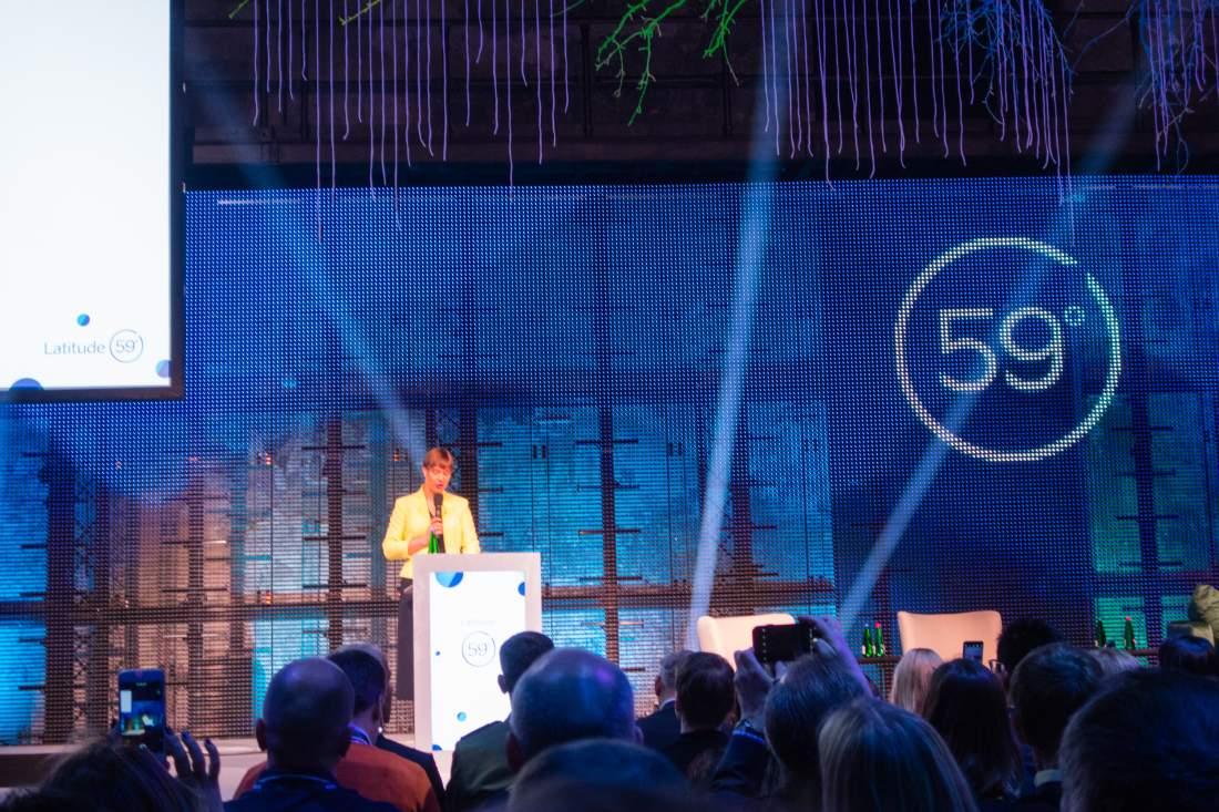 Kersti Kaljulaid, Bühne Latitude59, Key Note, Innovations-Event, Start-up-Tech-Event, Digitalisierung, Digitaler Wandel, digitaler Staat, Latitude59, e-Residency, digitale Bildung, E-Estonia