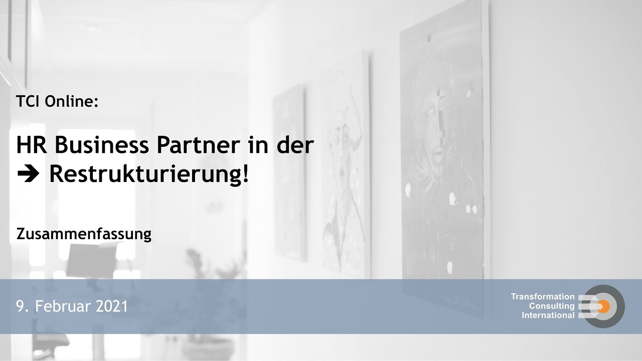 HR Business Partner in der Restrukturierung