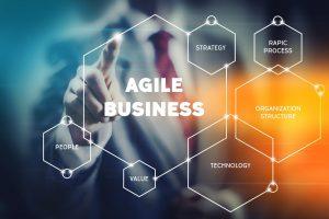 Futuristisches Touchpad mit schriftzug Agile Business